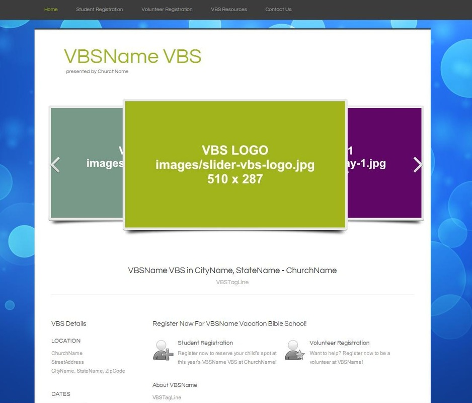 Blank Website Templates: Blank VBS Website Template